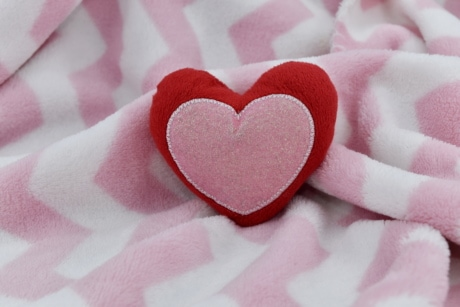 cotton, heart, heartbeat, love, object, pinkish, romance, pink, affection, romantic