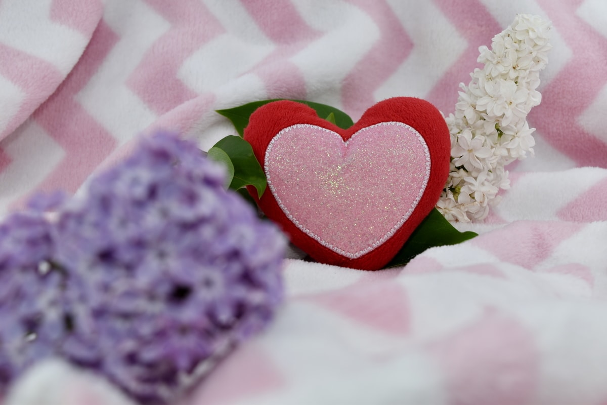 affection, lilac, love, romantic, bouquet, arrangement, pink, heart, wedding, decoration
