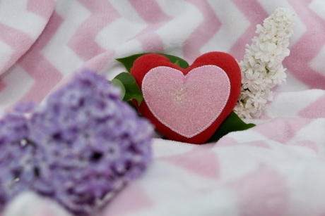 affection, lilac, love, romantic, bouquet, arrangement, pink, heart, wedding, decoration