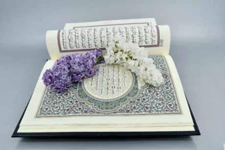 beautiful flowers, Islam, lilac, arabic, arabesque, art, book, books, color, decoration