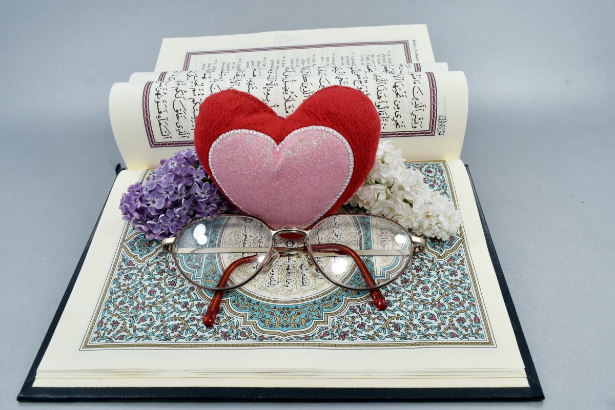Zuneigung, Buch, Zeremonie, Herz, Islam, Liebe, Ehe, Religion, traditionelle, Weisheit