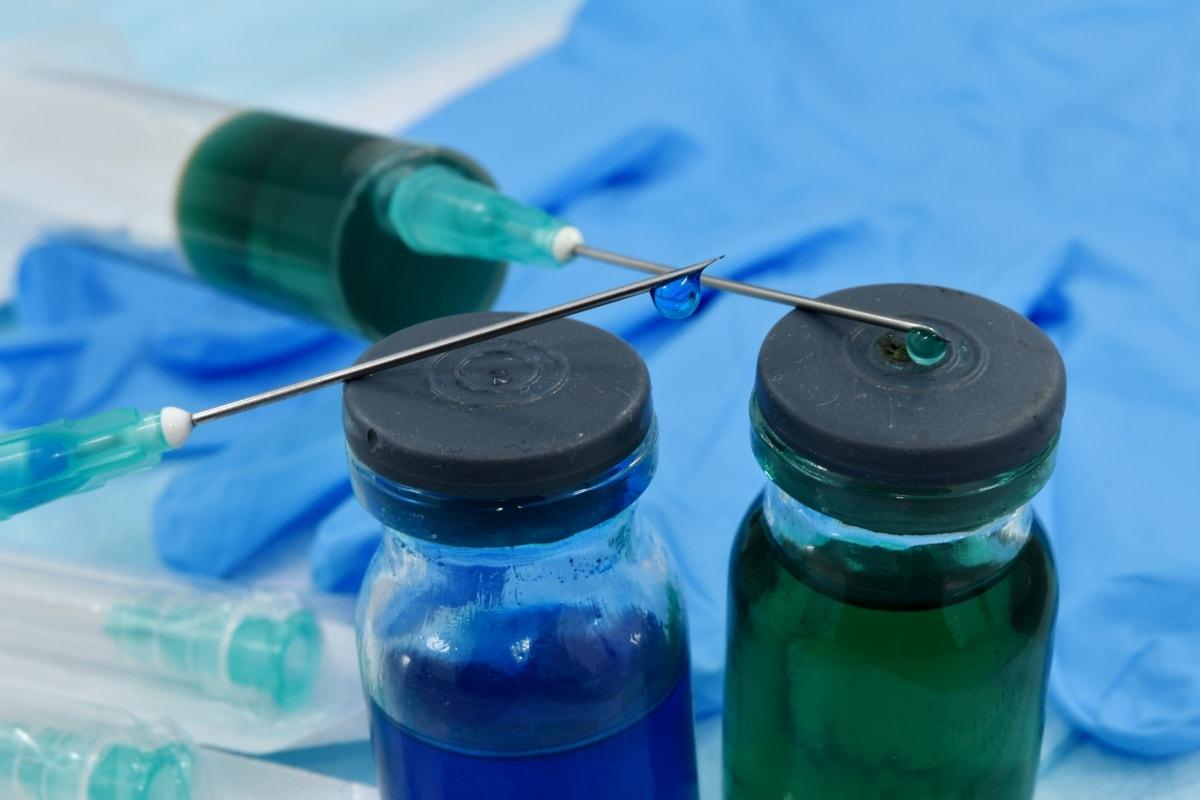 Biochemie, Labor, Nadeln, Pharmakologie, Spritze, Impfstoff, Behandlung, Medizin, Gesundheitswesen, Heilung