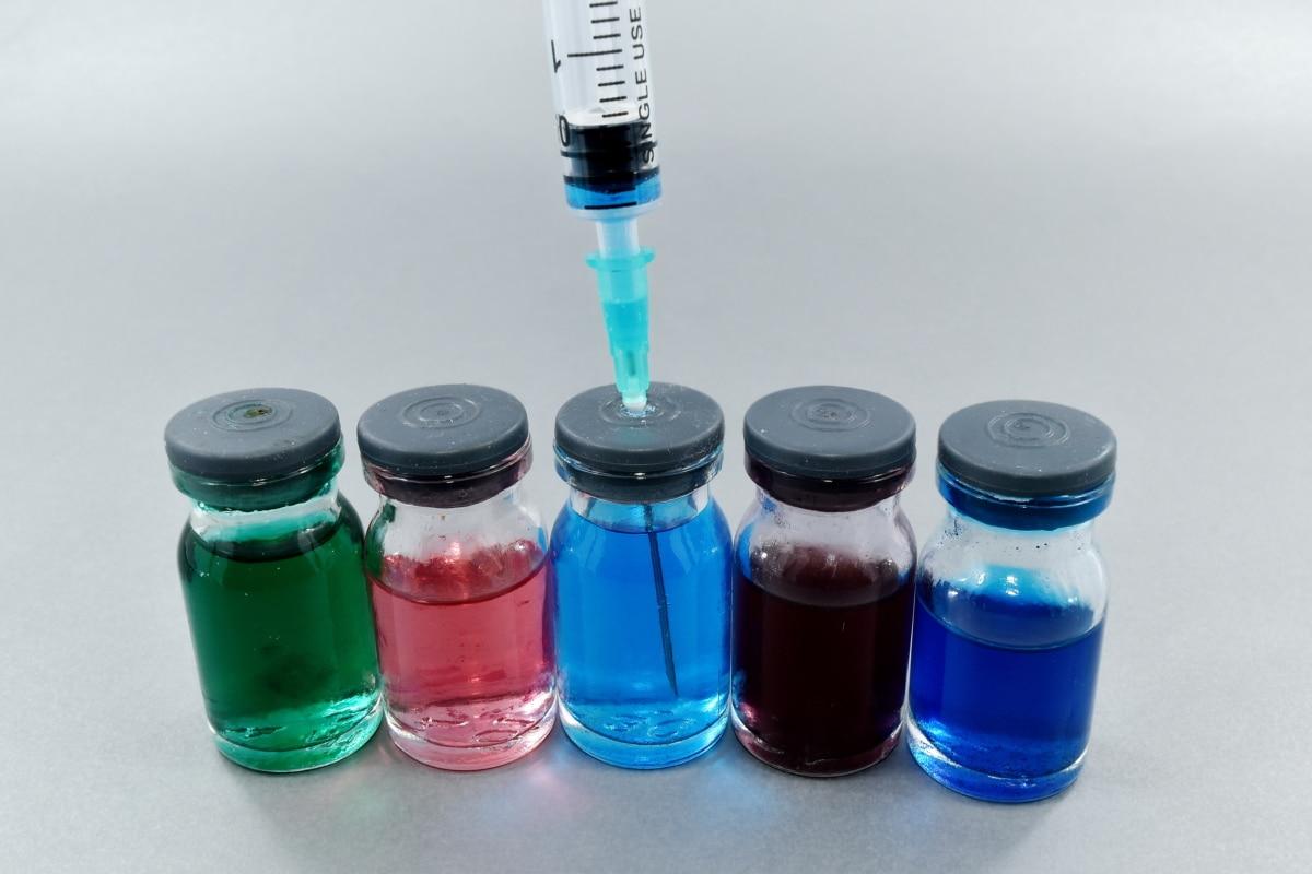 agar krvný, analýza krvi, farebné, činidlo, testovanie, fľaša, medicína, Farmakológia, plast, kontajner
