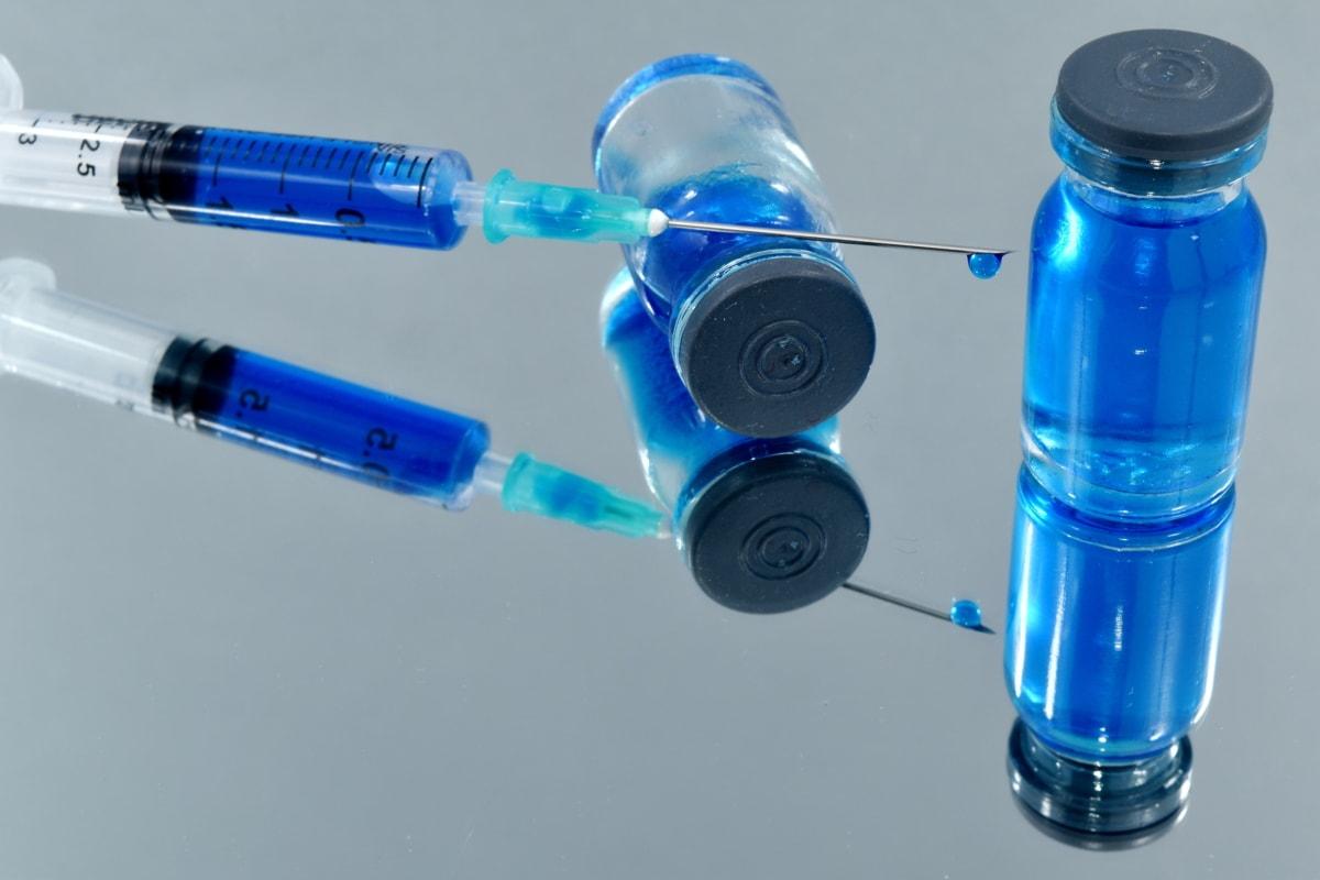 біологія, синій, Лабораторія, рідина, Мікробіологія, Вакцина, пластикові, Наука, пляшка, дослідження
