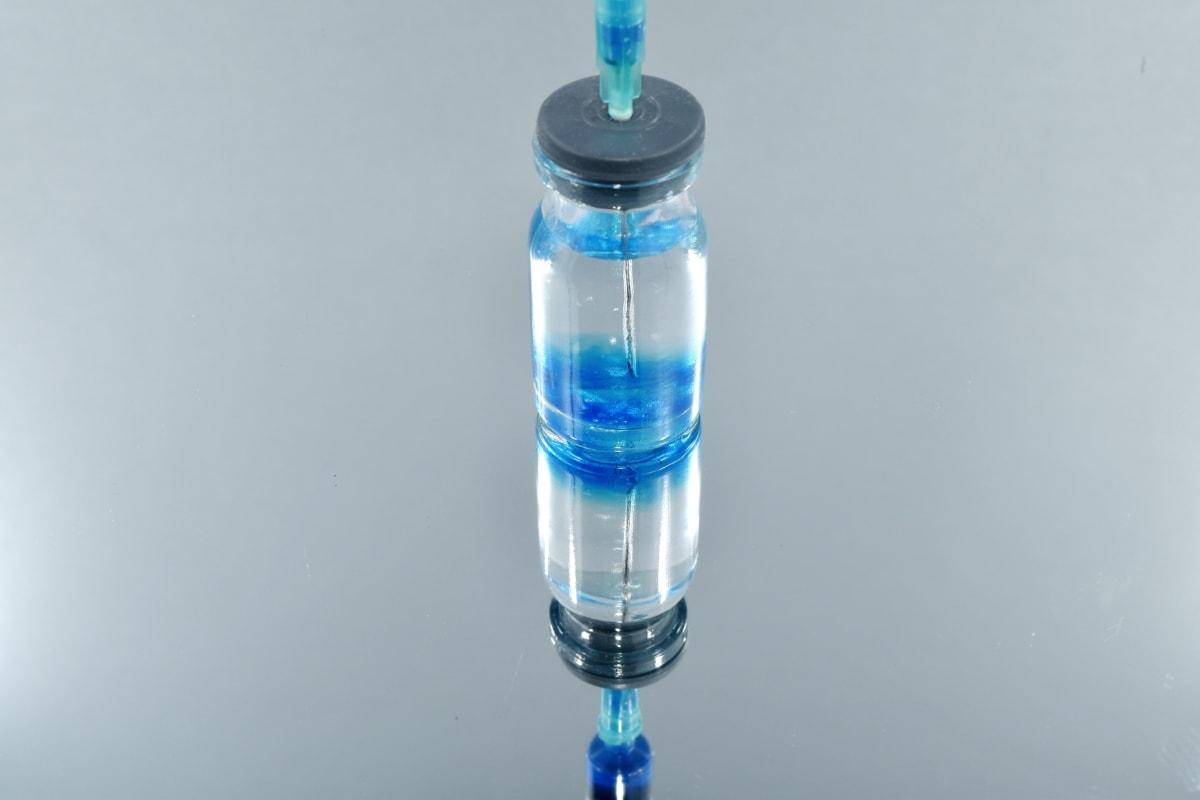 biochimie, biologie, cure, microbiologie, micro-organisme, aiguille, vaccin, conteneur, bouteille, plastique