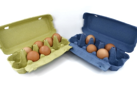 blue, box, carton, egg, egg box, greenish yellow, product, food, container, shell