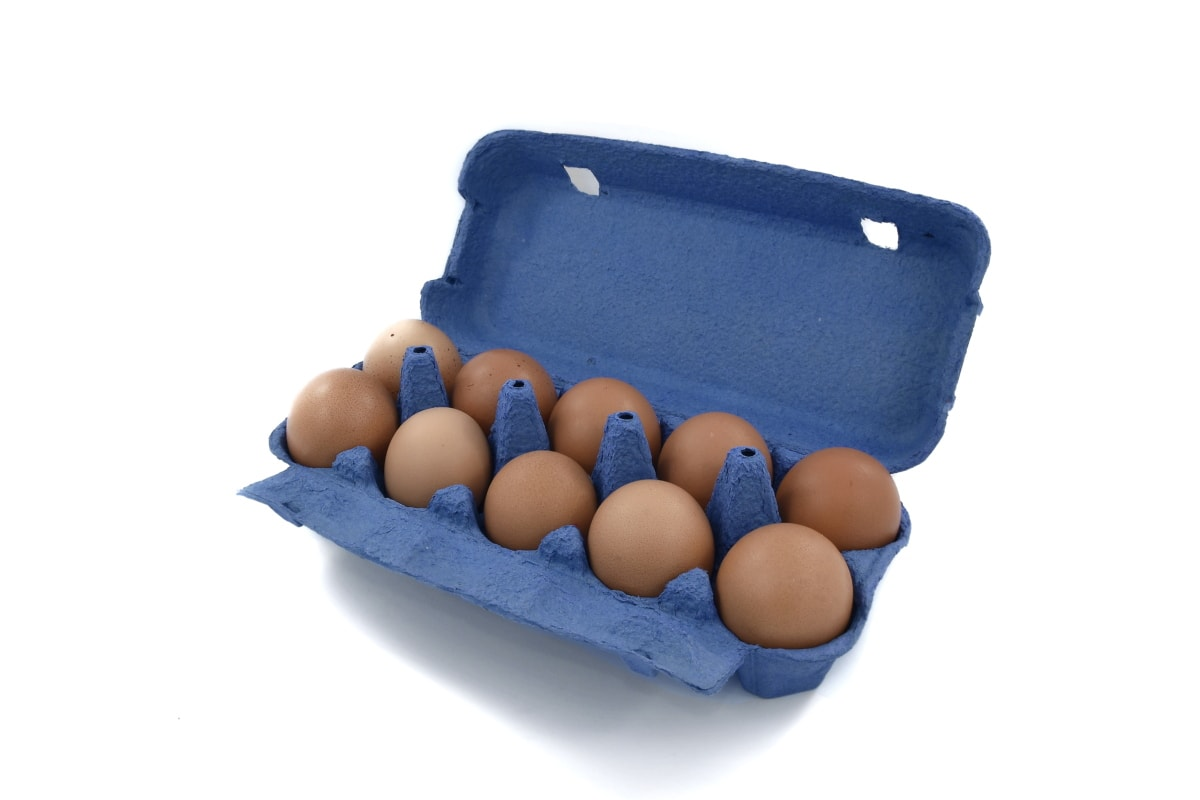 egg, egg box, egg yolk, package, product, protein, container, food, shell, plastic