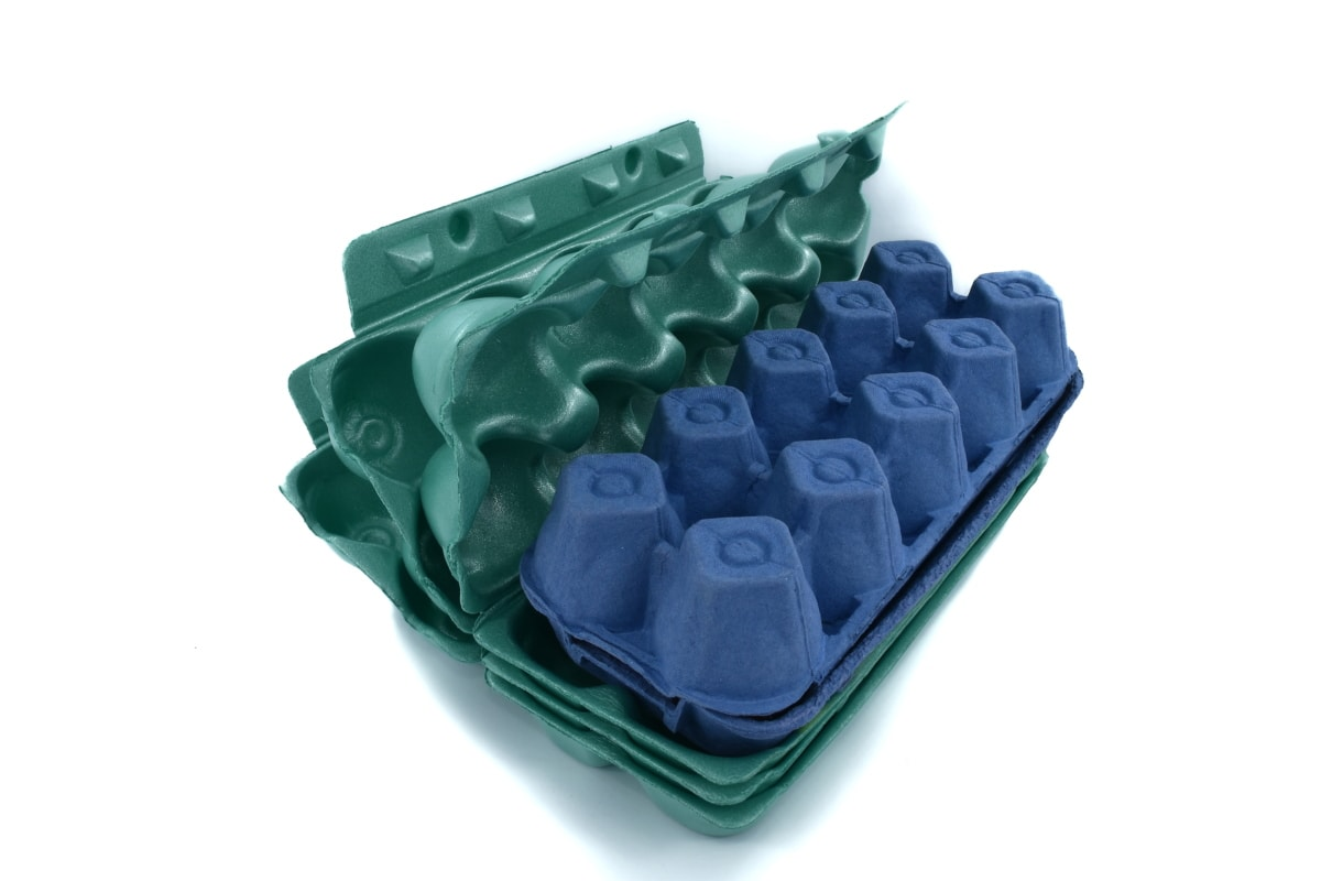 box, dark blue, dark green, egg box, green, industry, packages, polyester, products, plastic
