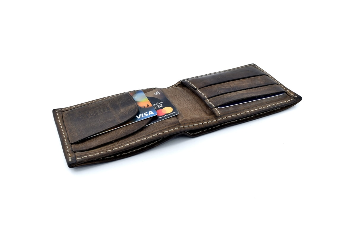 brun, kort, helt tæt, kredit, detaljer, håndlavede, mode, læder, handle ind, forretning
