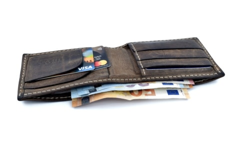 wallet, banknote, cards, credit, currency, Europe, loan, paper money, union, shopping, business