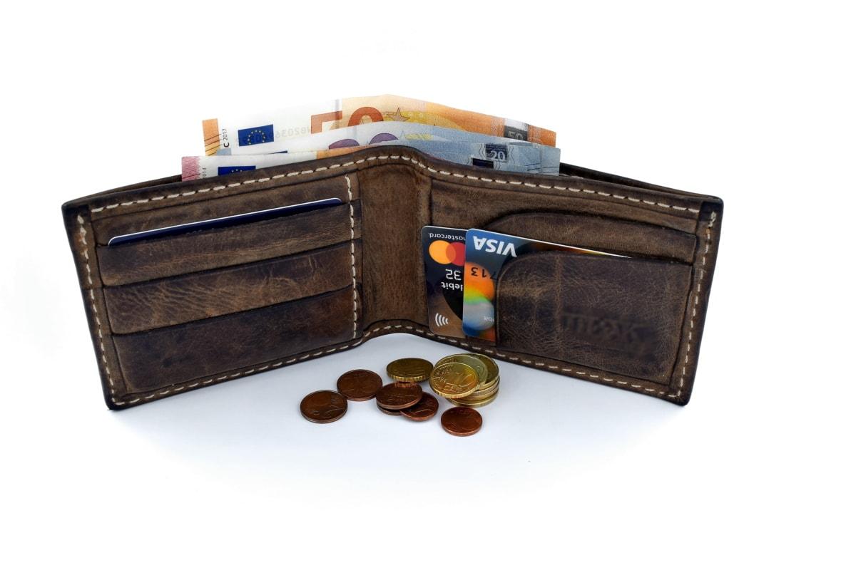 Kredit, Darlehen, Markt, Einsparungen, Währung, Leder, Einkaufen, Bargeld, Container, Geld