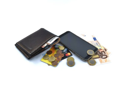 cash, inflation, marketplace, mobile phone, money, price, device, leather, business, shopping