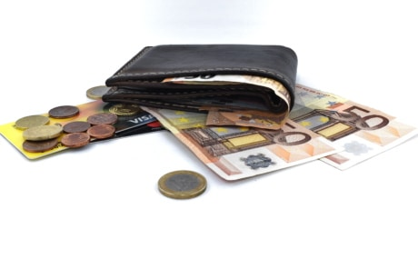wallet, finance, cash, container, euro, case, savings, business, currency, bank, money