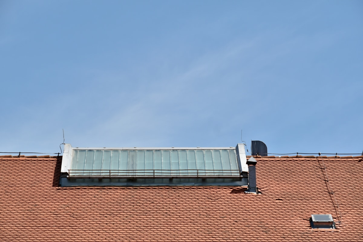 chimney, rooftop, windows, roofing, roof, architecture, reflector, device, electricity, ecology