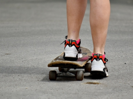 asphalt, physical activity, skateboard, skateboarding, sneakers, sport, shoe, street, footwear, skate