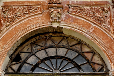 arch, artwork, damage, decay, facade, heritage, window, architecture, building, old