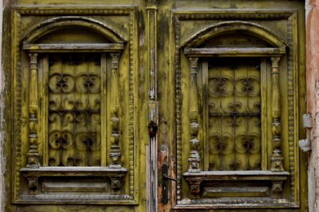 abandoned, carpentry, decay, entrance, facade, front door, gate, house, old, door