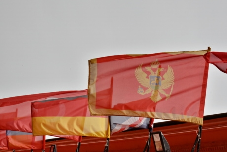 vlag, Montenegro, land, Democratische Republiek, embleem, symbool, wind, patriottisme, traditionele, democratie