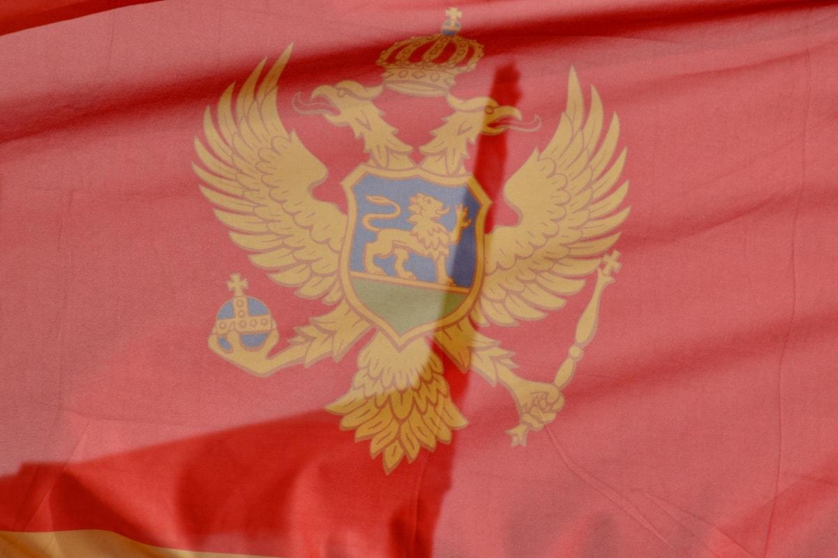 Montenegro, dân chủ, lá cờ, Quốc gia, Cộng hòa dân chủ, Đại bàng, Huy hiệu, Huy hiệu, yêu nước, lòng yêu nước