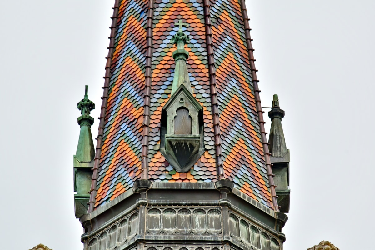 baroque, cathedral, catholic, church tower, colorful, rooftop, church, building, tower, architecture