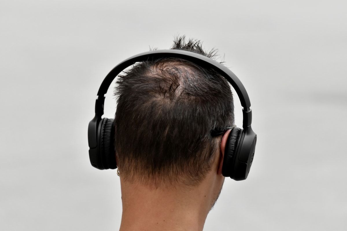 hairstyle, headphones, listening, modern, music, sound, stereo, urban, man, headset