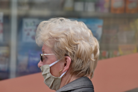 businesswoman, coronavirus, COVID-19, face mask, hygiene, portrait, profile, protection, side view, sunglasses
