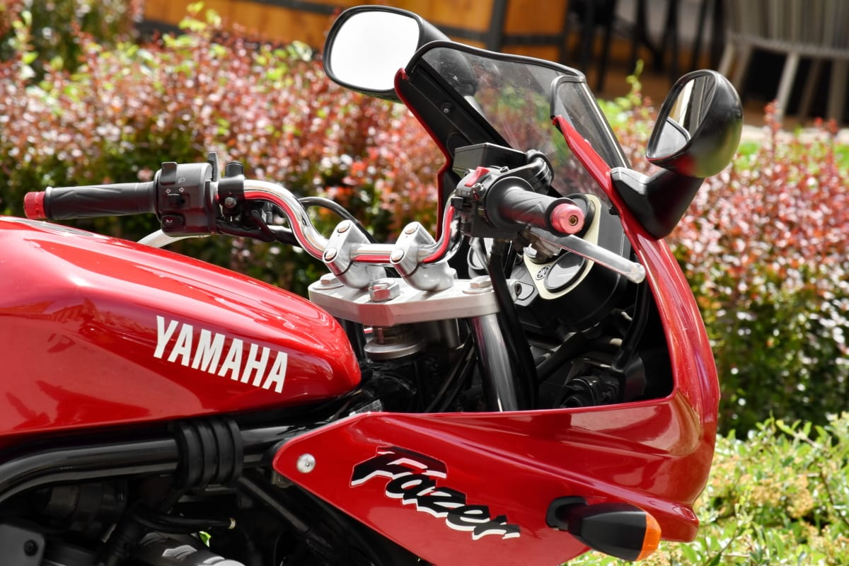 エンジン, 金属, オートバイ, 赤, ステアリング ホイール, Yamaha, 搬送, 車両, バイク, ホイール