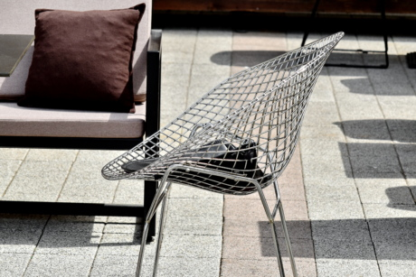 armchair, stainless steel, steel, seat, chair, furniture, modern, rest, sofa, street