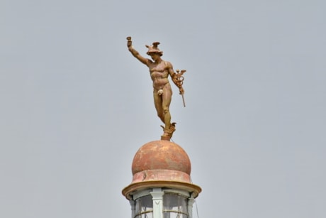 art, body, bronze, bust, man, statue, roof, architecture, dome, church