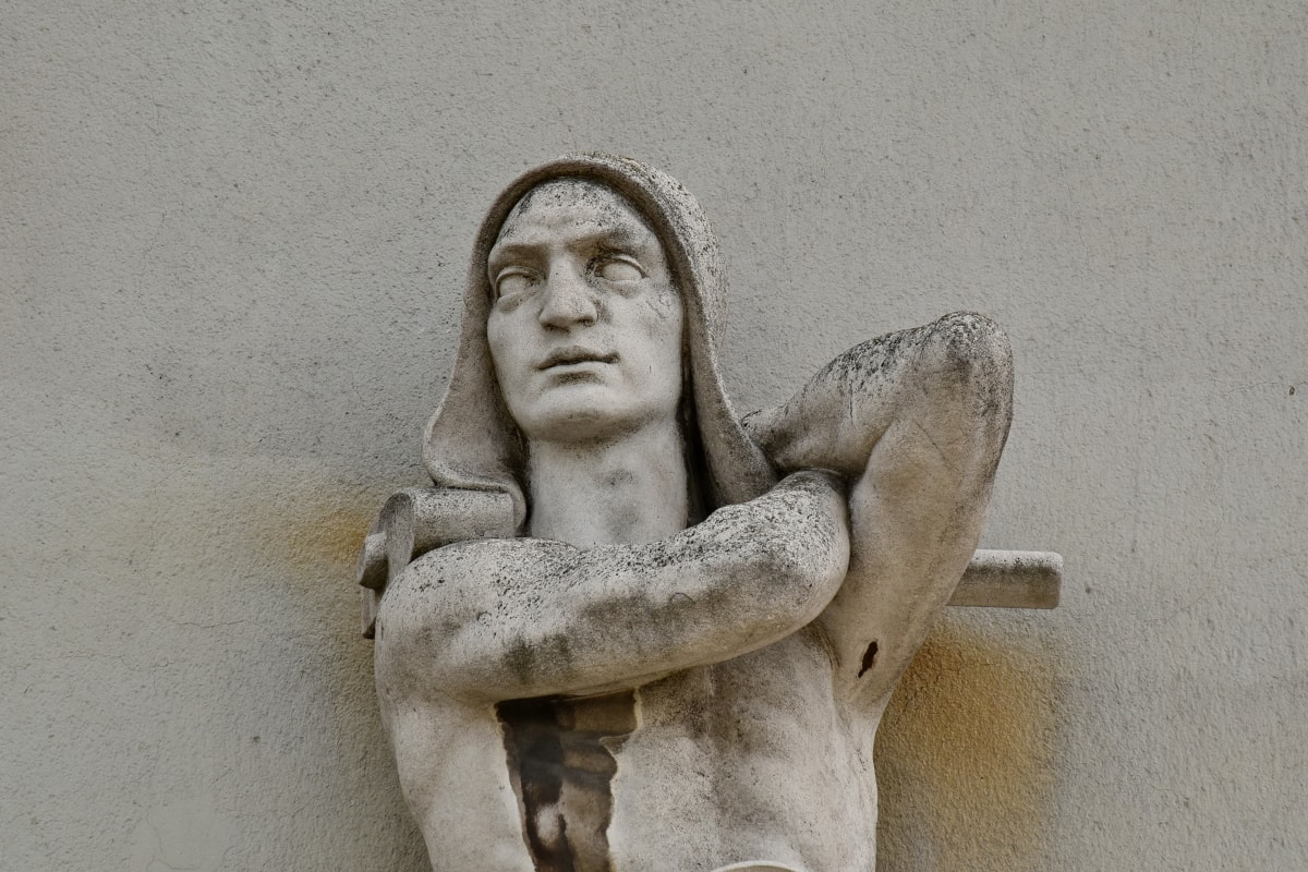 käsivarsi, taide, musta ja valkoinen, kasvot, Graniitti, mies, muotokuva, seinä, patsas, veistos