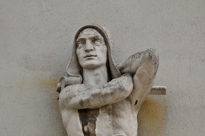 Kostenlose Bild Arm Kunst Schwarz Und Weiss Gesicht Granit Mann Portrat Wand Statue Skulptur