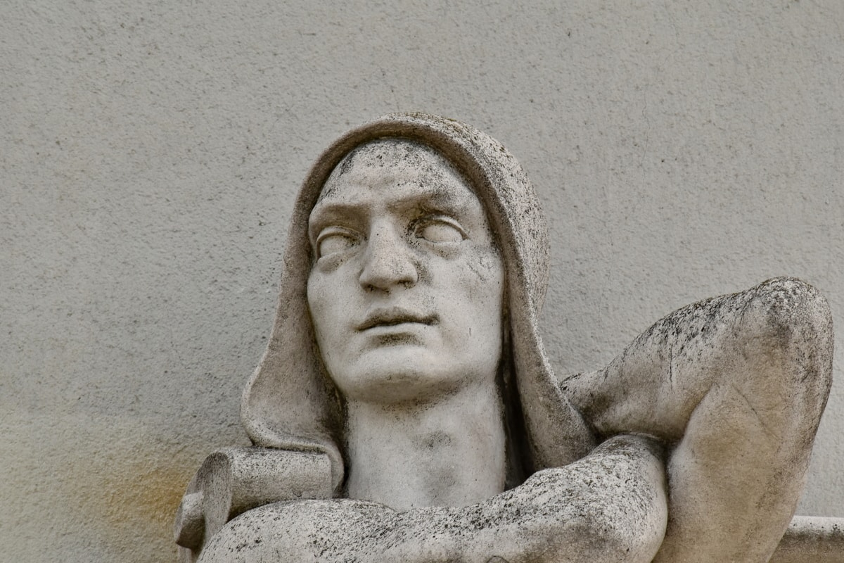 opera de arta, ochii, fata, om, marmura, portret, sculptura, perete, Statuia, arhitectura