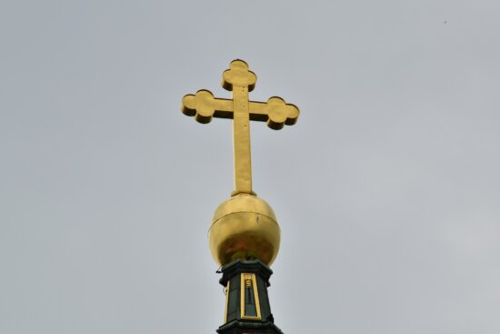 christianity, church tower, cross, gold, golden glow, high, religion, architecture, building, old