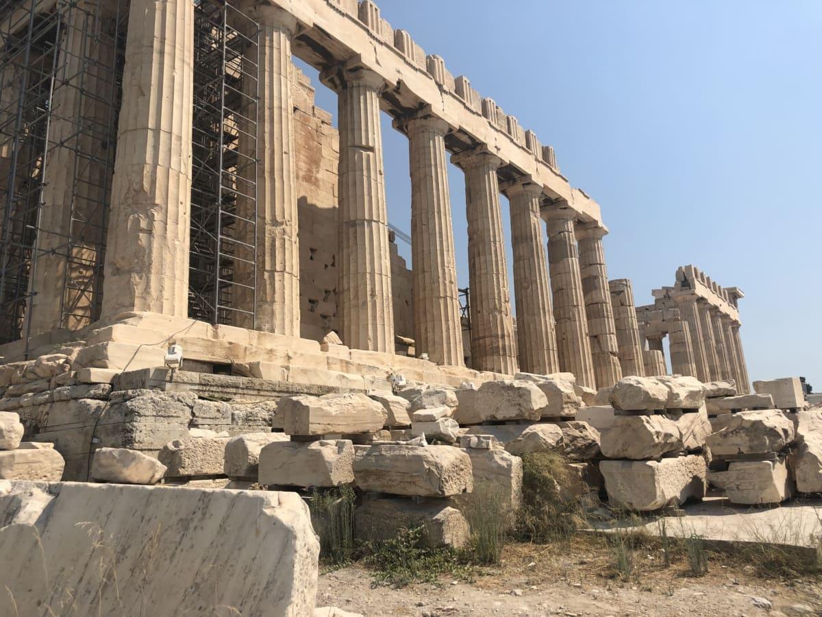 archeology, civilization, column, greece, tourism, tourist attraction, statue, stone, architecture, ancient