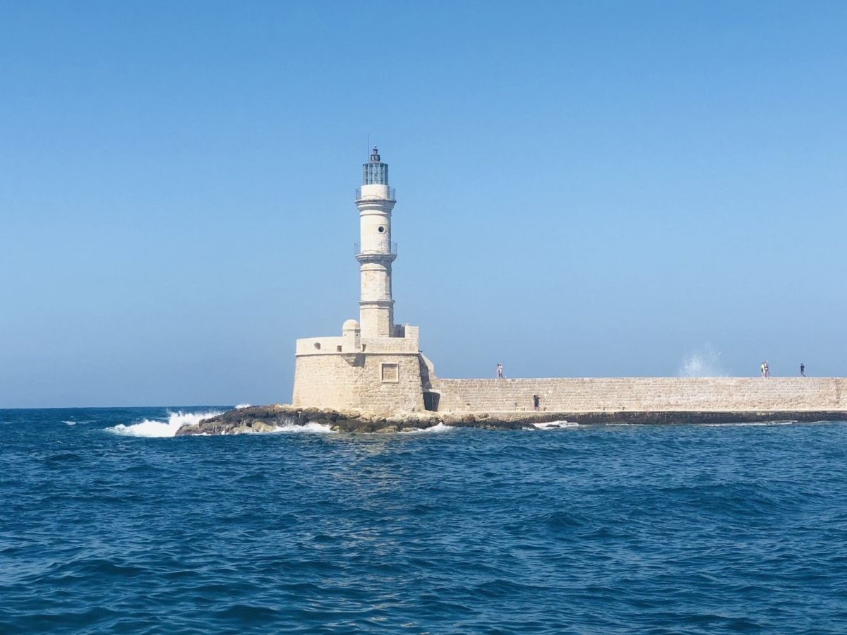 lighthouse, tower, sea, water, structure, beacon, barrier, architecture, seashore, navigation