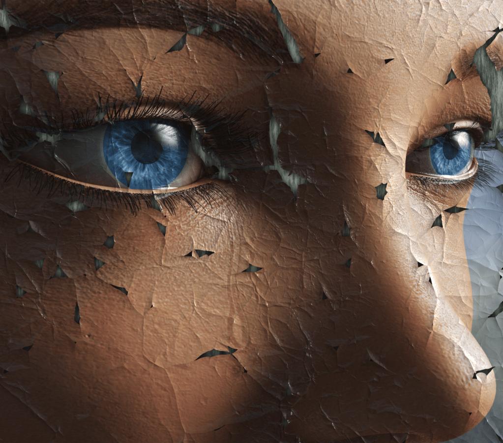 έργα τέχνης, από κοντά, ζημιά, βολβό του ματιού, γυαλιά οράσεως, τα μάτια, φαντασία, φουτουριστικό, μοντέλο, δέρμα