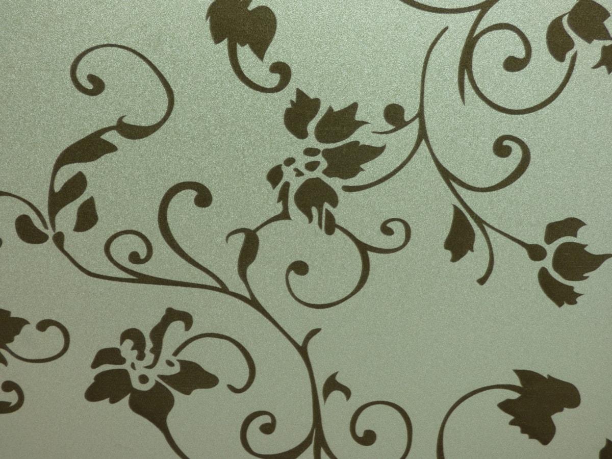 lærred, bomuld, Damask, dekoration, stof, blomstre, grønne blade, tekstil, tekstur, mønster