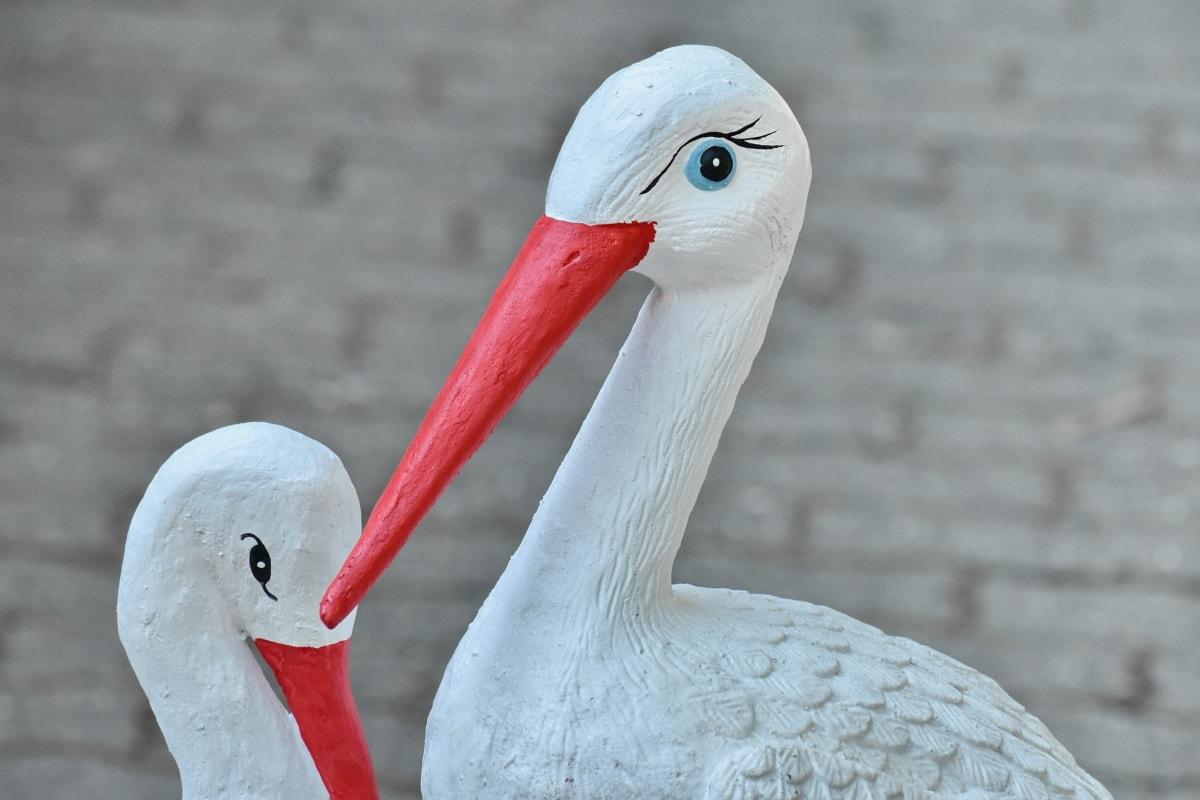 ศิลปะ, นก, คอนกรีต, ประติมากรรม, นกกระสาสีขาว, จะงอยปาก, ธรรมชาติ, นก, เบิร์ด, สัตว์ป่า