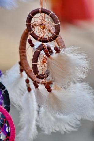 fantázia, toll, kézzel készített, indiai, objektum, szimbólum, hagyományos, fesztivál, gyöngyök, szabadban