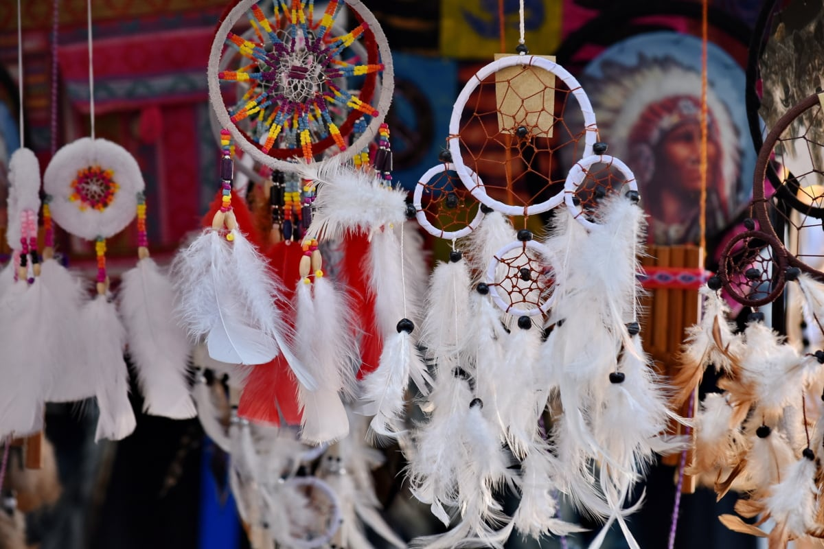 craft, craft fair, decoration, feather, handmade, indian, tradition, holiday, carnival, hanging