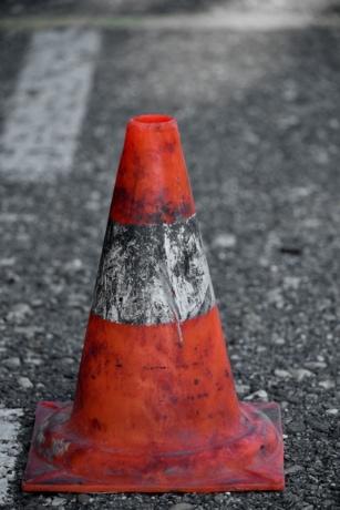 символ, Управление движением, Пробка, предупреждение, улица, дорога, безопасность, асфальт, опасность, трафик