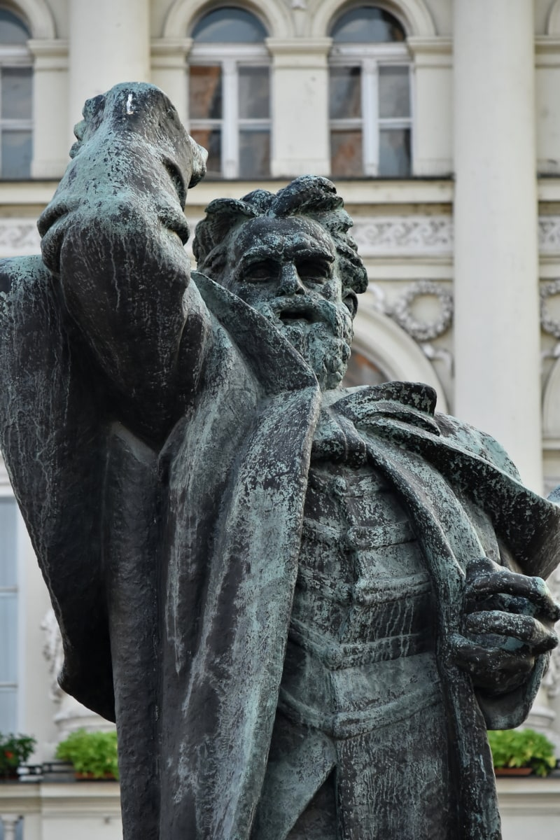 art, bronze, buste, sculpture, Serbie, attraction touristique, statue de, architecture, monument