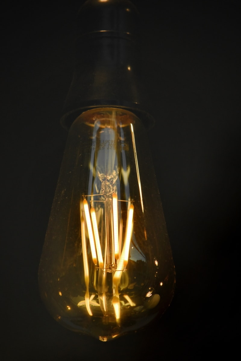 darkness, light brown, light bulb, lamp, glass, wire, bulb, electricity, light, energy