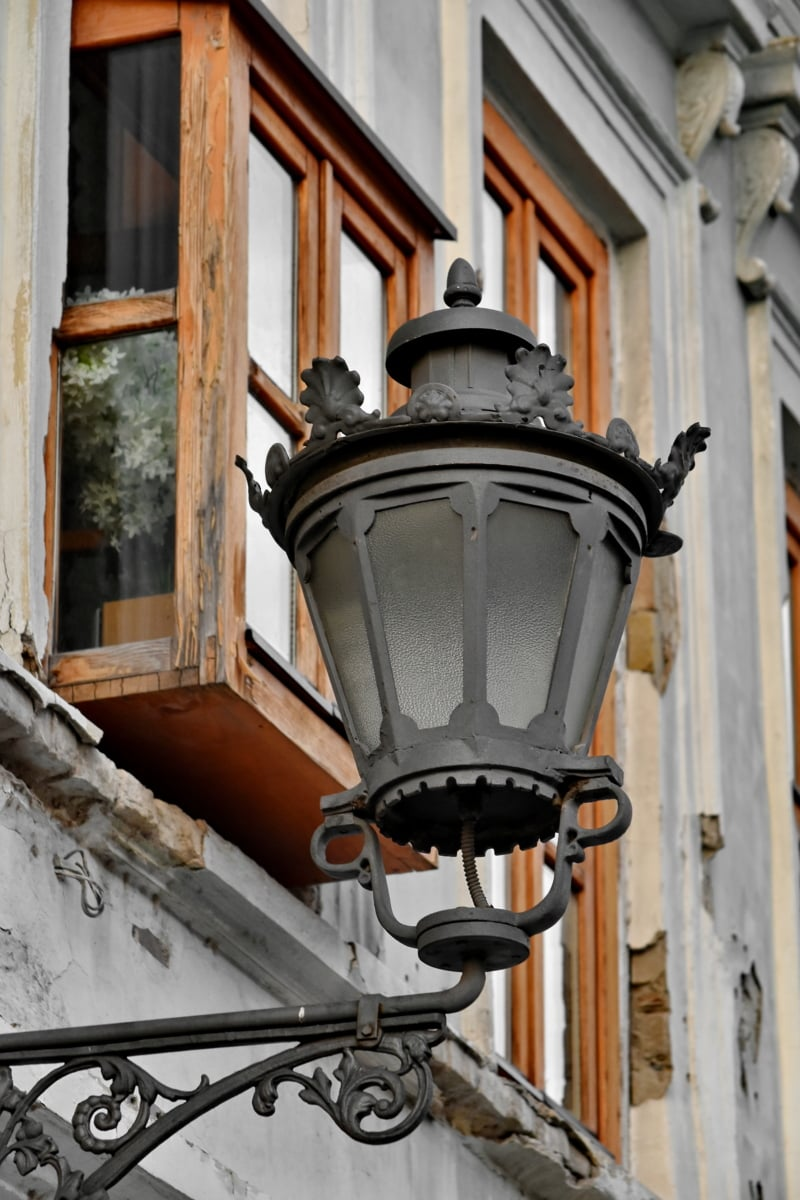 baroque, cast iron, facade, lamp, street, tourist attraction, urban area, classic, lantern, old