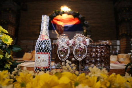 ceremony, decoration, flower, glass, interior decoration, red wine, rust, wicker basket, interior design, wine
