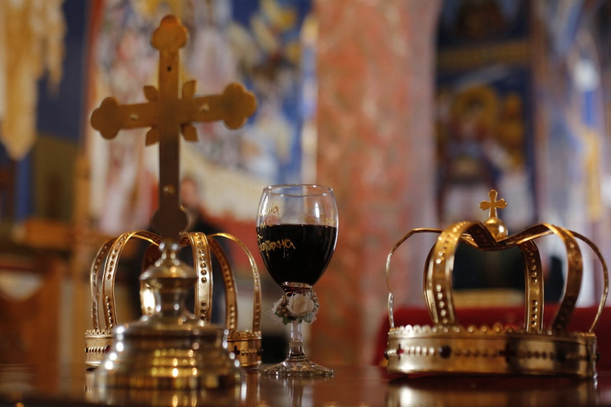 ceremony, church, cross, crown, gold, interior, interior decoration, orthodox, spirituality, tradition