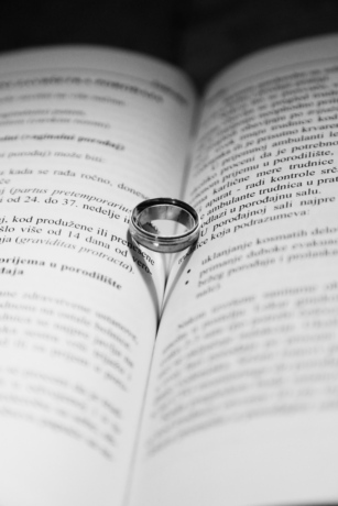 black and white, book, knowledge, ring, silver, text, wedding, wedding ring, wisdom, print