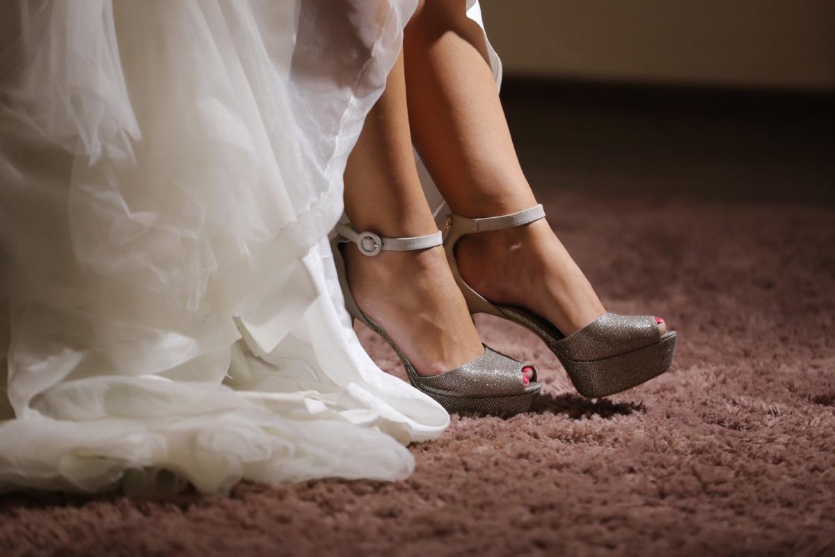 Teppich, Kleid, Stock, Teppich, Sandale, Schuhe, Bein, Körper, Modell, attraktiv