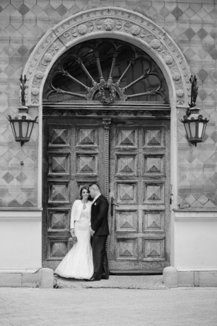 architectural style, art, front door, gate, gorgeous, man, monochrome, pretty girl, framework, architecture