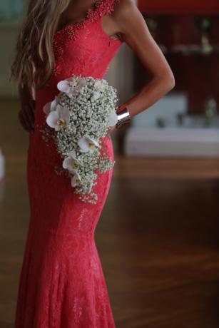 krásné, blond vlasy, kytice, náramek, nevěsta, šaty, půvab, nádherná, fotografie modelu, růžová